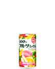 100% フルーツミックスジュース 190g缶